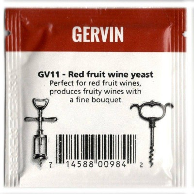 Дрожжи винные Gervin Yeast GV11 - Red Fruit