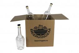 Бутылки коньячные 0,5л с пробкой, 9 штук в картонной коробке Beervingem