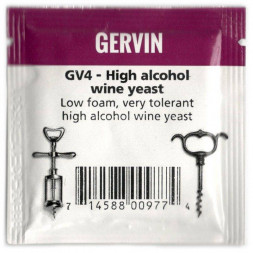 Дрожжи винные Gervin Yeast GV4 - High alcohol