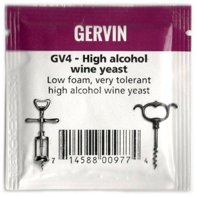 Дрожжи винные Gervin Yeast GV4 - High alcohol