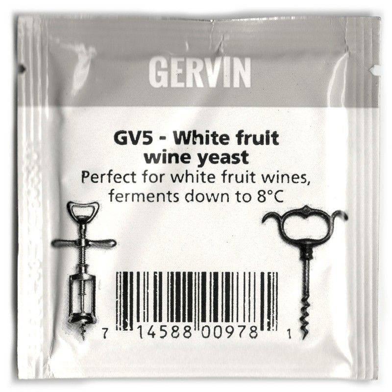 Дрожжи винные Gervin Yeast GV5 - White fruit