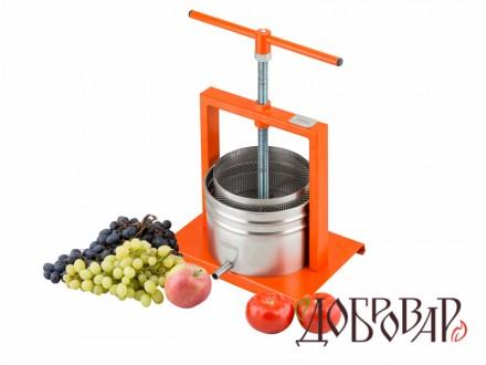 Пресс винный фруктово-ягодный напольный 5 л (винтовая резьба)