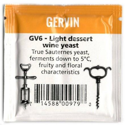 Дрожжи винные Gervin Yeast GV6 - Light dess