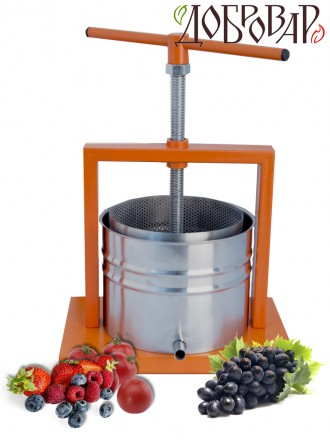 Пресс винный фруктово-ягодный настольный 5 л (трапецеидальная резьба)