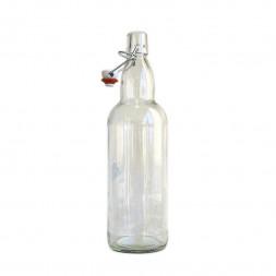 Бутылка бугельная прозрачная 1 литр (Россия)