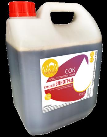 Сок виноградный концентрированный красный (0,9-1,2%) BRIX 70% 5 кг