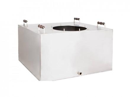 Газовый перегонный куб объёмом 90 литров, 8 шпилек (без крышки)