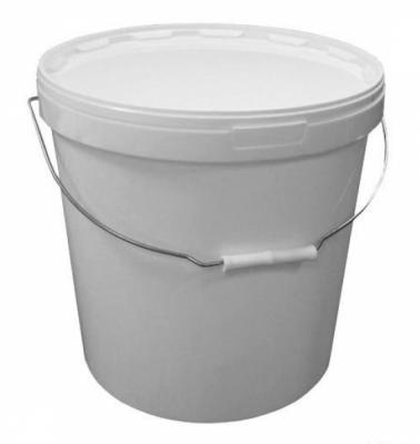Ведро пластиковое 20 литров круглое с металлической ручкой для приготовления вина или браги