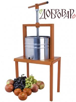 Пресс винный фруктово-ягодный напольный 5 л (трапецеидальная резьба)