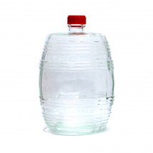 Бутыль Бариле, прозрачное стекло, 10 л. (с крышкой)
