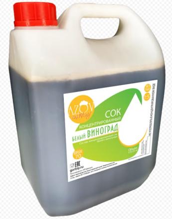 Сок виноградный концентрированный белый (0,8-1,1%) BRIX 70% 5 кг
