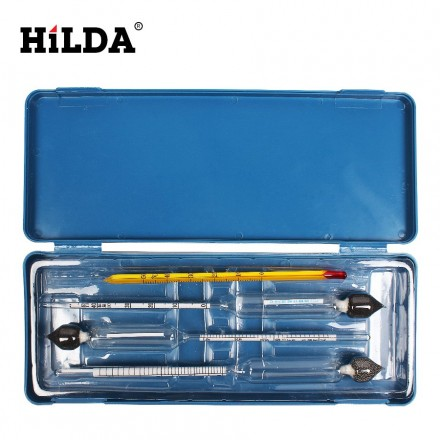 Набор ареометров и термометра в пластиковом футляре