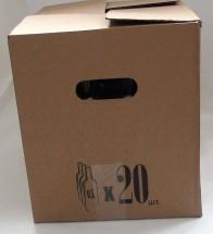 Коробки (350х275х300) для бутылок 0,5л.с ручками Бурый (20шт.)