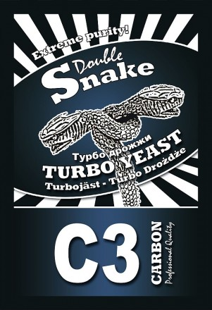 Турбо дрожжи DoubleSnake C3 Carbon (с углем), 120 гр