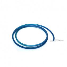 Жесткая ПВХ трубка под быстросъем, синяя, 10 мм для PUSH