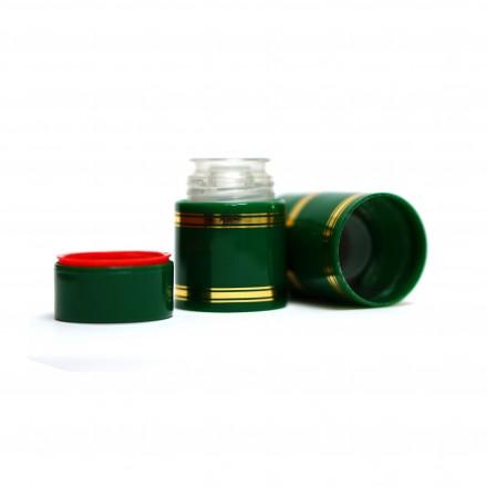 Полимерный колпачок с дозатором зеленый (Гуала 47 мм), 10 шт