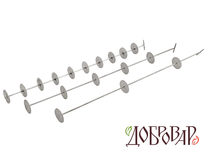 Шампур на 10 тарелок для Стеклянной ситчатой колонны «Источник»