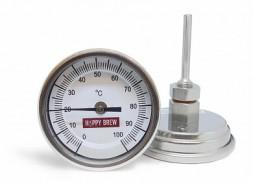 Термометр биметаллический нержавеющий «Hoppy Brew», G1/4 с гайкой