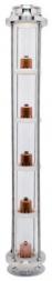 """Медная колпачковая колонна 1,5"""", 5 уровней"""
