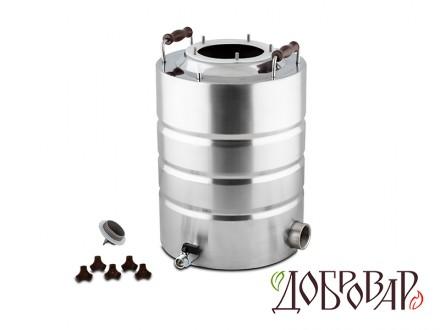 "Куб 17 л, ТЭН-Р-версия (1½""), 5 шпилек (без крышки)"