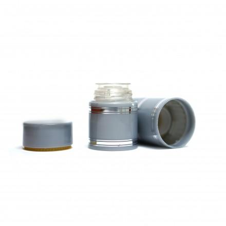 Полимерный колпачок с дозатором серебро (Гуала 47 мм), 10 шт