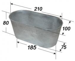 Форма для хлеба из алюминия Л10б (210*100*80)