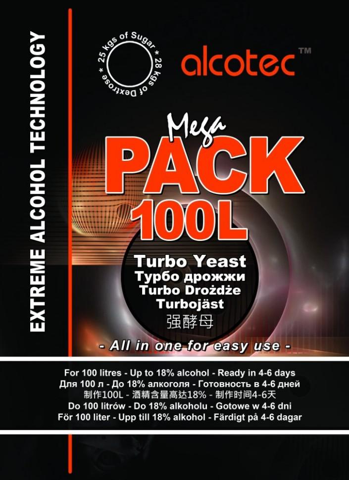Турбо дрожжи Alcotec Megapack 100L (на 100 литров)