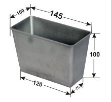 Форма для хлеба из алюминия Л11 (145*100*100)
