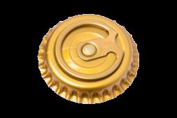Кроненпробки с кольцом ЗОЛОТЫЕ, 26 мм, 50 шт