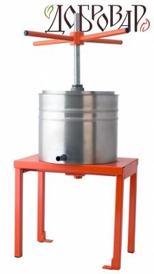 Пресс винный фруктово-ягодный напольный 8 л (трапецеидальная резьба)