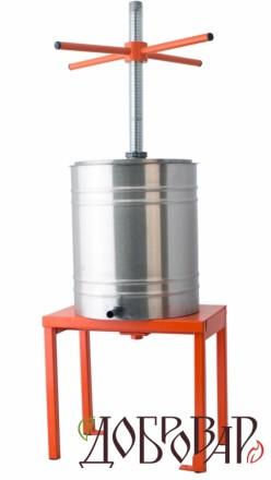 Пресс винный фруктово-ягодный напольный 14 л (метрическая резьба)