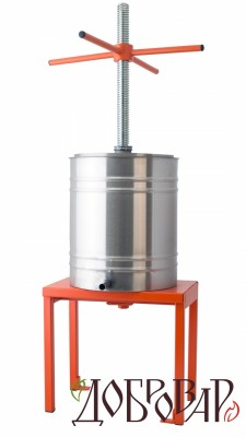 Пресс винный фруктово-ягодный напольный 14 л (трапецеидальная резьба)