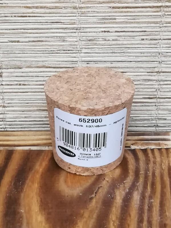 Пробка натуральная коническая 37х45 мм агломерированная