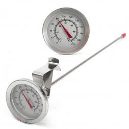 Термометр аналоговый с длинным щупом и клипсой на кастрюлю