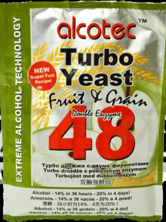 Дрожжи Alcotec Fruit & Grain 48 Turbo, 143 г