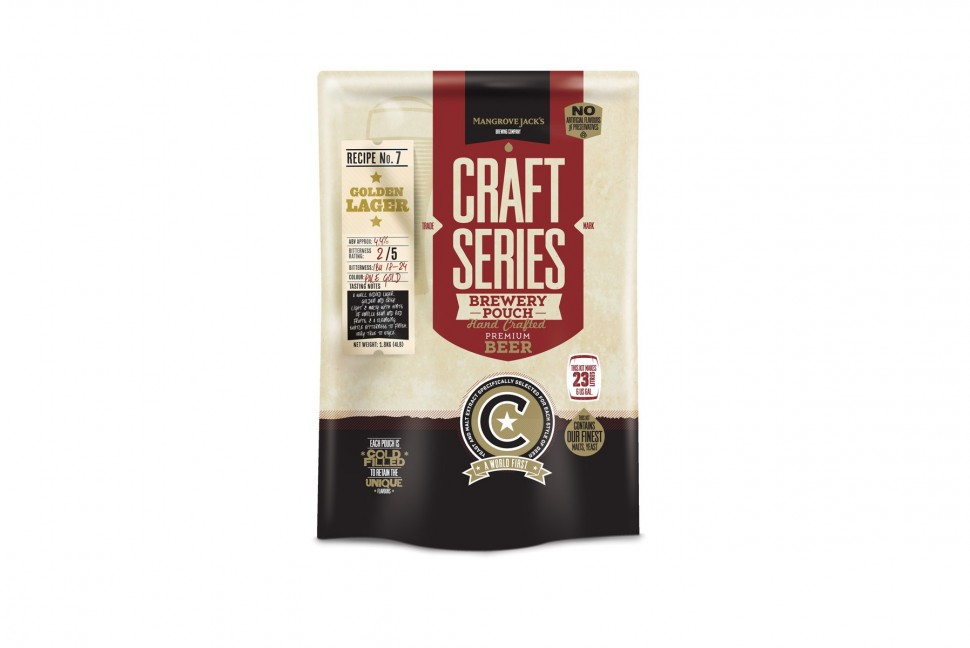 Солодовый экстракт Mangrove Jack's Craft Series Golden Lager Pouch 1,8 кг.