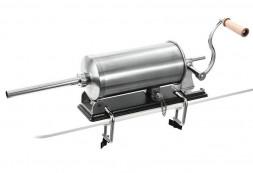 Шприц колбасный горизонтальный на 5,5 кг. с металлическими насадками
