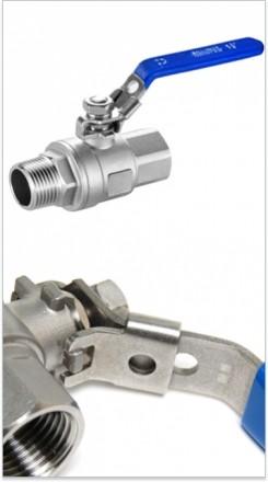 Кран шаровой с замком AISI 304 SM-SB1103 1/2 дюйма F-M (сталь нержавеющая)