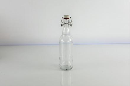 Бутылка под бугельную пробку, 0,5 л. (ПРОЗРАЧНАЯ)