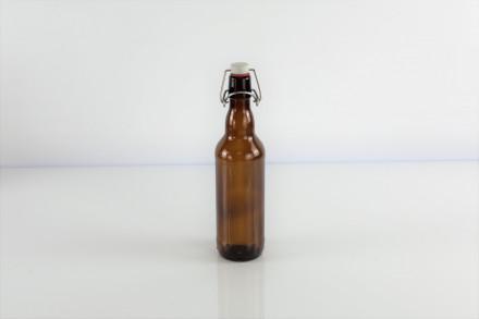 Бутылка под бугельную пробку, 0,5 л. (темная)