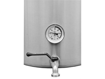 Сусловарочный котел 21,2 л. с фальшдном, краном и термометром