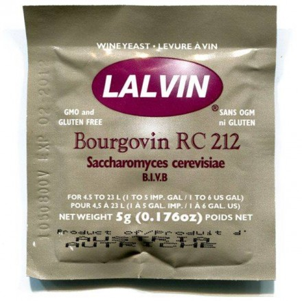 Дрожжи винные Lalvin  BOURGOVIN RC212 5 гр.