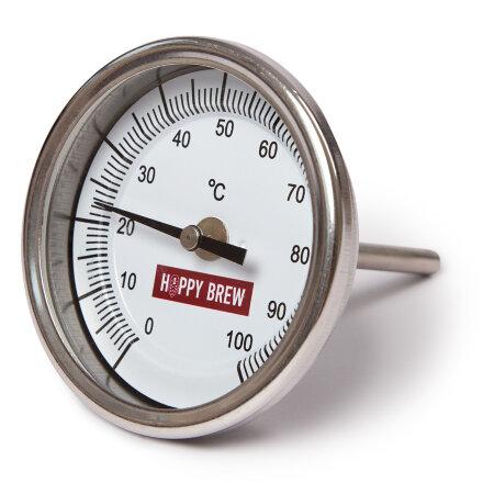 Термометр биметаллический нержавеющий «Hoppy Brew», G 1/2