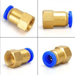 Соединитель быстросъемный Push 1/4 дюйма X 10 мм (мама)