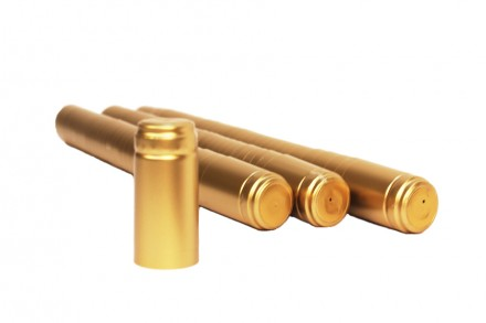 Термоколпачок для винных бутылок 33x55, золотой (Италия), 100 шт