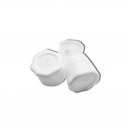 Колпачок КОРОТКИЙ под винт 28*18 мм, 10 шт (белый)