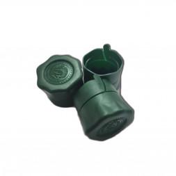Колпачок КОРОТКИЙ под винт 28*18 мм, 10 шт (зеленый)