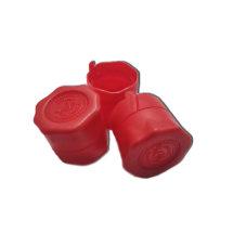 Колпачок КОРОТКИЙ под винт 28*18 мм, 10 шт (красный)
