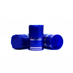 Пластиковый колпачок на бутылку винт 28*18 мм, 10 шт (синий) / 10 шт.