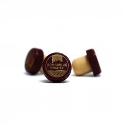 Пробка КАМЮ Домашний продукт, бордовый колпачок 19,5 мм